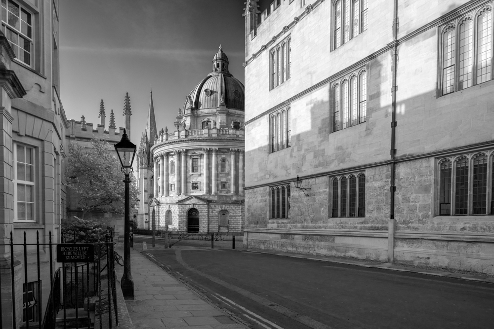 The Radcliffe Camera, the Church of St. Mary the Virgin and the Bodleian Library
