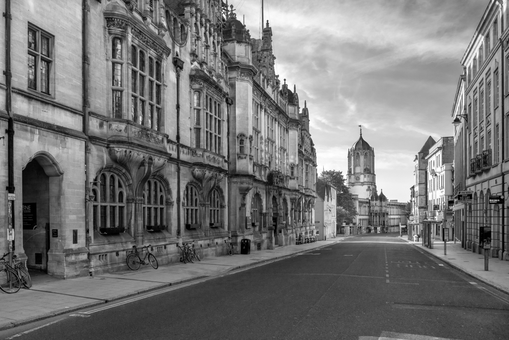 St. Aldates, Oxford Town Hall and Tom Tower, Christ Church College